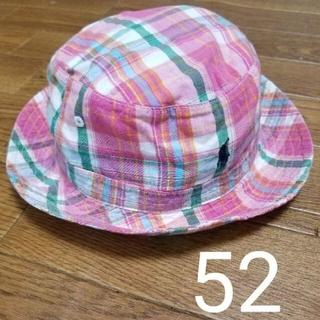 ラルフローレン(Ralph Lauren)のラルフローレン あご紐有 ベビー帽子 52cm 紐あり 48 50(帽子)