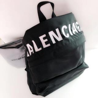 Balenciaga - 大きいサイズ★BALENCIAGA バレンシアガ ウィール ロゴ バックパック