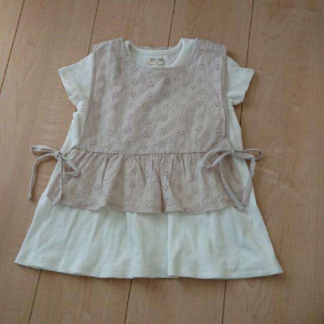 しまむら(シマムラ)の美品 しまむら 半袖トップス ベスト 100 キッズ/ベビー/マタニティのキッズ服女の子用(90cm~)(Tシャツ/カットソー)の商品写真