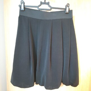 【美品】ひざ丈バルーンスカート(ひざ丈スカート)