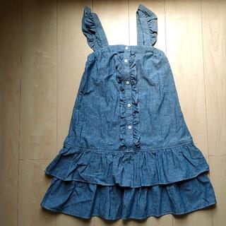 ニシマツヤ(西松屋)の新品タグ付き女児160cm デニムワンピース(ワンピース)