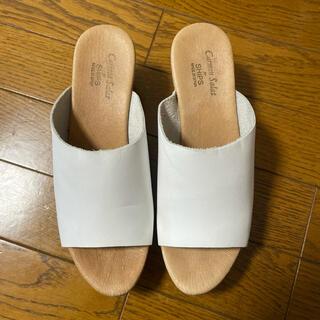 シップスフォーウィメン(SHIPS for women)のSHIPS for women  サボサンダル ホワイト 37(サンダル)