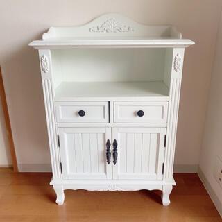 Francfranc - 美品 シャビーシック キャビネット 棚 アンティーク フレンチカントリー 白家具