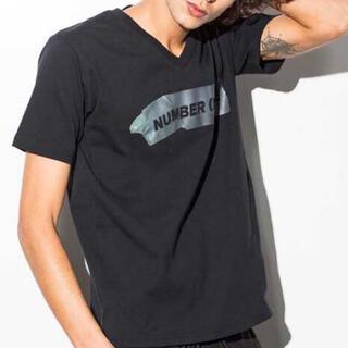 NUMBER (N)INE - NUMBER(N)INE テープロゴプリントTシャツ