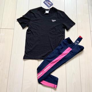 Reebok - 新品 Reebok Tシャツ リニアロゴ レギンス タイツ 上下セット M