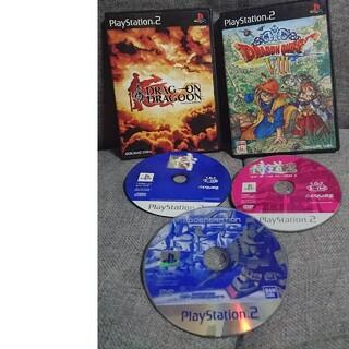 プレイステーション2(PlayStation2)のドラッグオンドラグーン+ソフト4本セット(家庭用ゲームソフト)