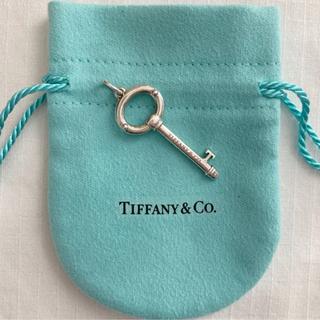Tiffany & Co. - ティファニー オーバルキー トップ チャーム シルバー925 美品 希少