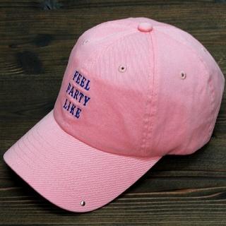 帽子 6 パネル cap コットン キャップ ワンポイント 男女兼用 ピンク(キャップ)