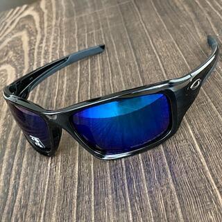 Oakley - バルブ 偏光 ディープ ブルー オークリー サングラス 釣り ゴルフ ブラック