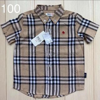 しまむら - 【ポロベビー】チェックシャツ 100