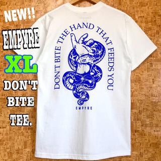スラッシャー(THRASHER)のヘビ ☆ 新品 EMPYRE Don't Bite Tシャツ 白 XL LL (Tシャツ/カットソー(半袖/袖なし))