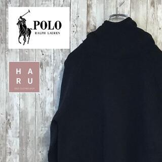 ポロラルフローレン(POLO RALPH LAUREN)のポロラルフローレン パーカー プルオーバー ワンポイント ハイネック 黒(パーカー)