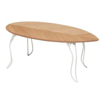 折りたたみ リーフ型テーブル/ローテーブル ナチュラル(ローテーブル)