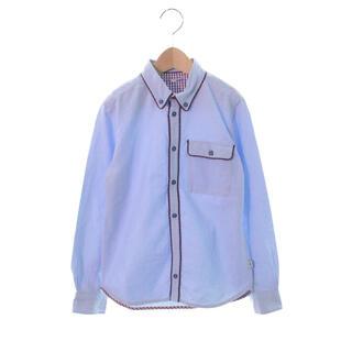 マークジェイコブス(MARC JACOBS)のLITTLE MARC JACOBSブルーシャツ サイズ138(ドレス/フォーマル)