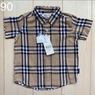 シマムラ(しまむら)の【ポロベビー】チェックシャツ 90(Tシャツ/カットソー)