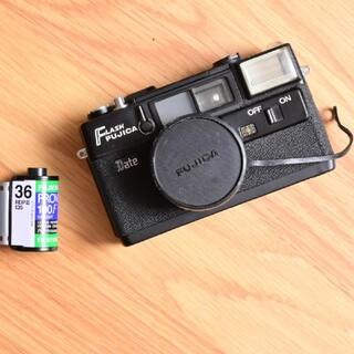 フジフイルム(富士フイルム)のFlash Fujica Date 動作確認フィルムカメラ 美品 富士フイルム(フィルムカメラ)
