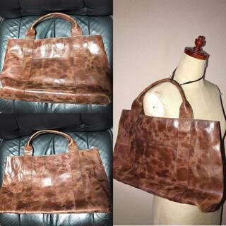 新品近い美品レザー革トートバッグ送料込カジュアルビジネスボディショルダー鞄カバン(トートバッグ)
