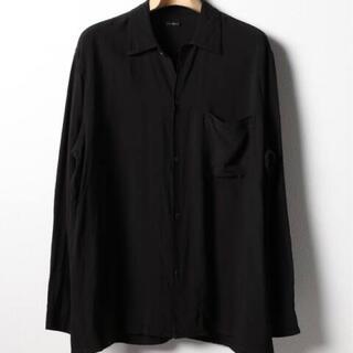 コモリ(COMOLI)のcomoli コモリ レーヨンシャツ サイズ3 SS19 ブラック(シャツ)