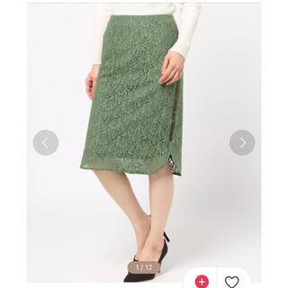 ガリャルダガランテ(GALLARDA GALANTE)のGALLARDAGALANTE サイドラインレーススカート(ひざ丈スカート)