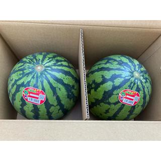 送料込み 富里産 ハウス栽培スイカ MAサイズ 2玉(フルーツ)