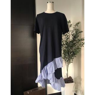 ディーホリック(dholic)の裾フリルパターンワンピース(ひざ丈ワンピース)