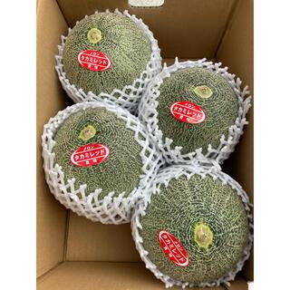 送料込 千葉県産 タカミレッドメロン 3Lサイズ 4玉(約6kg)(フルーツ)