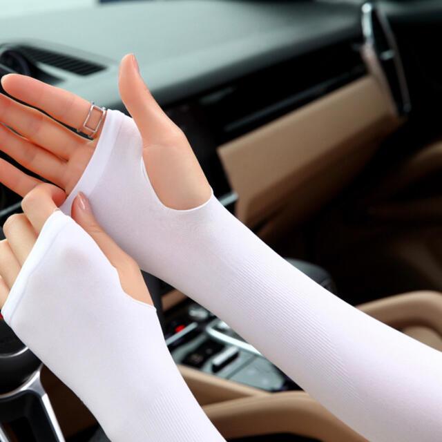 紫外線カット 冷感 アームカバー 日焼け防止 UPF50 男女兼用 UVカット レディースのファッション小物(手袋)の商品写真
