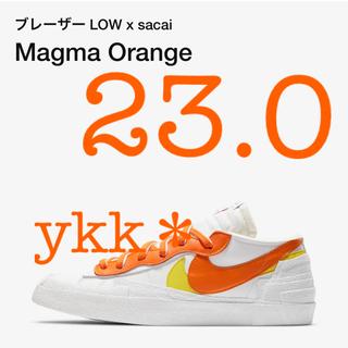 sacai - sacai NIKE BLAZER LOW Magma Orange 23.0
