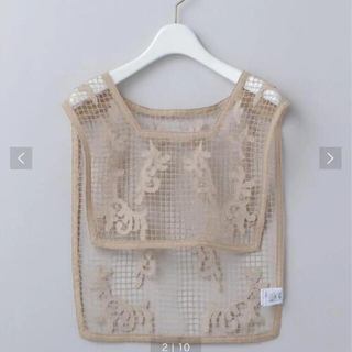 BEAUTY&YOUTH UNITED ARROWS - <6(ROKU)>LACE BIB/トップス Ψ ビブ