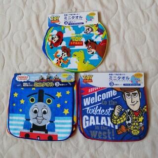 Disney - 男の子柄 ディズニー&THOMAS ミニタオル3枚組×3セット
