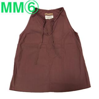 エムエムシックス(MM6)のMM6 MMシックス ノースリーブカットソー マルジェラ イタリア製(カットソー(半袖/袖なし))