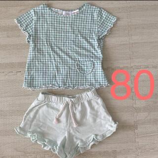 ザラキッズ(ZARA KIDS)のZARA Tシャツ ショートパンツ 80(Tシャツ)