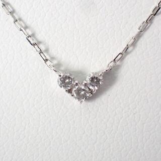ヨンドシー(4℃)の4℃ K10WG ダイヤモンド ハート ネックレス[g475-1](ネックレス)