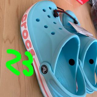 crocs - ラス6  23 クロックバンド パステルカラー 水色