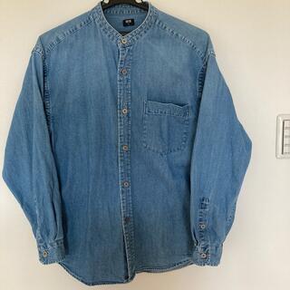 UNIQLO - デニムオーバーサイズスタンドカラーシャツ S