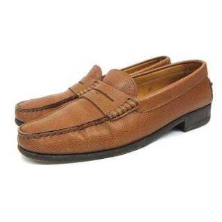 トッズ(TOD'S)のトッズ コイン ローファー ペニー Tロゴ ゴム装飾 レザー 37 23.5cm(ローファー/革靴)