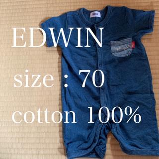 EDWIN - 【送料無料】ロンパース 半袖 サイズ60〜70