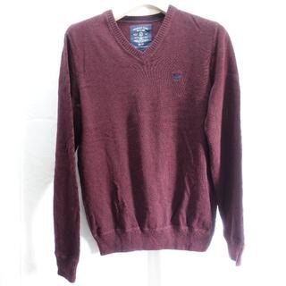 アメリカンイーグル(American Eagle)の■American Eagle セーター ワインレッド メンズXSサイズ(ニット/セーター)