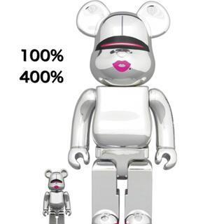 MEDICOM TOY - BE@RBRICK SORAYAMA 2G SILVER 100% & 400%