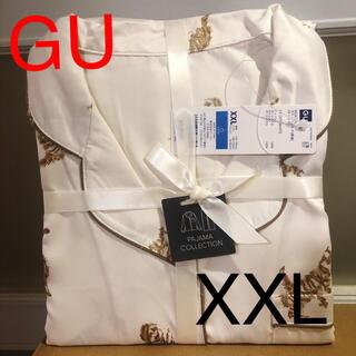 ジーユー(GU)の(新品) GU サテンパジャマ 長袖 XXL ラスト(パジャマ)