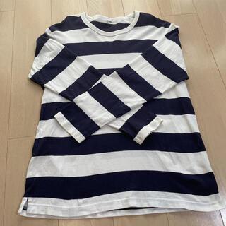 ユニクロ(UNIQLO)のユニクロ UNIQLO マリン ボーダー Tシャツ ティシャツ(Tシャツ(長袖/七分))