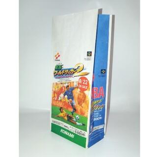 スーパーファミコン(スーパーファミコン)のゲーム紙袋 コナミ 実況 サッカー バスケット(その他)