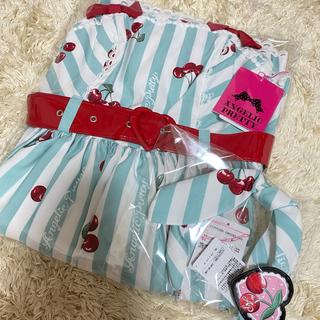 アンジェリックプリティー(Angelic Pretty)のAngelic Pretty♡Cherry stamp JSK+KC ミント(ひざ丈ワンピース)