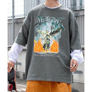 ハレ(HARE)のユーズドライクロックTシャツ ダークグリーン(Tシャツ/カットソー(半袖/袖なし))