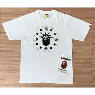 A BATHING APE - ★希少★ APE ニューヨーク 大猿 ロゴ Tシャツ 12周年 記念 白 M