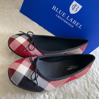 BURBERRY BLUE LABEL - 新品未使用♪ブルーレーベルクレストブリッジフラットシューズ 24.0cm