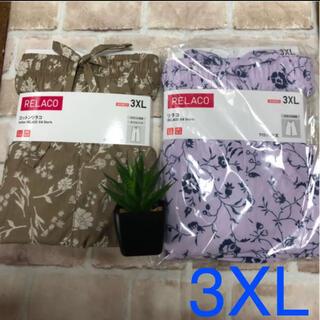 ユニクロ(UNIQLO)の3XL  新品未使用 ユニクロ リラコ コットンリラコ&花柄リラコ(ルームウェア)