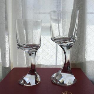 Baccarat - バカラ ナルシス 赤 白ワイングラス 2客セット