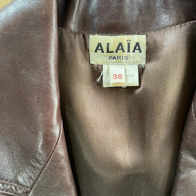 Azzedine Alaïa(アズディンアライア)のALAIA レザー ジャケット コート vintage メンズのジャケット/アウター(レザージャケット)の商品写真