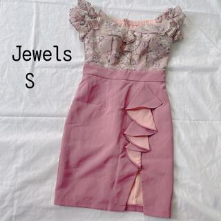 JEWELS - Jewels オフショル花柄 キャバドレス S くすみ